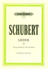 Lieder Volume 2. Voix Grave Franz Schubert Partition laflutedepan.com