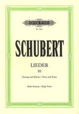 Lieder Volume 3 - Voix Haute SCHUBERT Partition laflutedepan.com