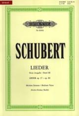Lieder Vol. 3 Voix Moyenne - Fischer-Dieskau SCHUBERT laflutedepan.com