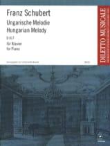 Franz Schubert - Mélodie Hongroise Si mineur D 817 - Partition - di-arezzo.fr