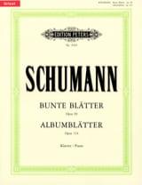 Bunte Blatter Opus 99 - Albumblätter Opus 124. laflutedepan.com
