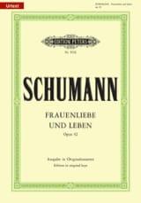 Frauenliebe Und Leben Opus 42. Voix Haute SCHUMANN laflutedepan.com