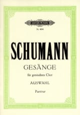SCHUMANN - Gesänge Auswahl - Sheet Music - di-arezzo.co.uk
