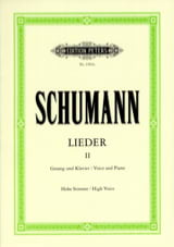 SCHUMANN - Lieder Volume 2. High Voice - Sheet Music - di-arezzo.co.uk