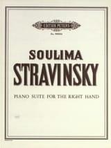 Soulima Stravinski - Suite Pour la Main Droite - Partition - di-arezzo.fr