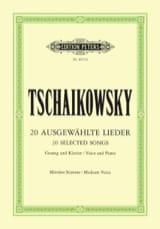 Piotr Illitch Tchaikovsky - Lieder Choisis. Voix Moyenne - Partition - di-arezzo.fr