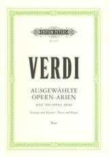Giuseppe Verdi - Opern Arien. Basse - Partition - di-arezzo.fr