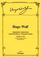 Hugo Wolf - Spanisches Liederbuch (Voix Grave) - Partition - di-arezzo.fr