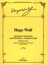 Spanisches Liederbuch Volume 2 Voix Grave Hugo Wolf laflutedepan