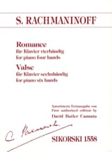 Sergei Rachmaninov - Romance 4 Mains et Valse 6 Mains - Partition - di-arezzo.fr