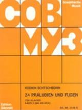 24 Préludes et Fugues Volume 2 Piano Rodion Chedrin laflutedepan.com