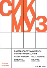 Dimitri Chostakovitch - Valse et Polka. 4 Mains. - Partition - di-arezzo.fr
