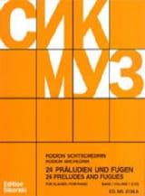 24 Préludes et Fugues Volume 1. Piano Rodion Chedrin laflutedepan.com