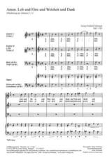 TELEMANN - Amen. Lob Und Ehre Und Weisheit Und Dank - Sheet Music - di-arezzo.co.uk