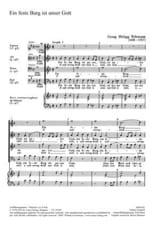 TELEMANN - Ein feste burg ist unser gott - Sheet Music - di-arezzo.co.uk