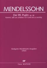 Psaume 95 Opus 46 - Félix MENDELSSOHN - Partition - laflutedepan.com