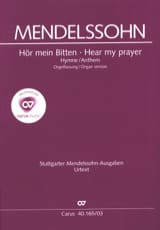MENDELSSOHN - Anthem: Hör Mein Bitten - Sheet Music - di-arezzo.co.uk