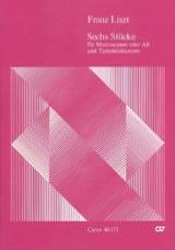 6 Stücke Franz Liszt Partition Mélodies - laflutedepan.com