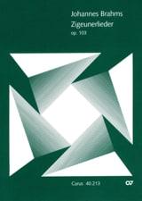 BRAHMS - Zigeunerlieder Opus 103 - Partition - di-arezzo.fr