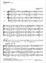 Miserere En Sol Mineur. Domenico Scarlatti Partition laflutedepan.com