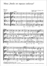 Tomas Luis de Victoria - Missa Simile est Regnum - Partition - di-arezzo.fr