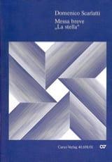 Messa breve La stella Domenico Scarlatti Partition laflutedepan.com