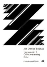 Jan Dismas Zelenka - Lamentatio 1 Gründonnerstag - Sheet Music - di-arezzo.co.uk
