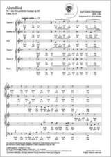 Abendlied Opus 69-3 RHEINBERGER Partition Chœur - laflutedepan