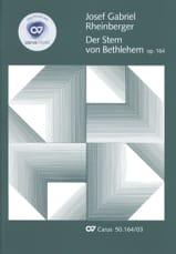 Joseph Rheinberger - Der Stern Von Bethlehem Opus 164 - Partition - di-arezzo.fr