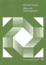 Missa pro Quadragesima MH551 Michael Haydn Partition laflutedepan.com