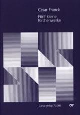 5 Kleinere Kirchenwerke - César Franck - Partition - laflutedepan.com