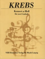 Johann Ludwig Krebs - Concerto En la Mineur Pour 2 Clavecins - Partition - di-arezzo.fr