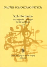 6 Romances Opus 62 CHOSTAKOVITCH Partition Mélodies - laflutedepan.com
