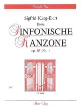 Erste Sinfonische Kanzone Op. 85-1 Sigfrid Karg-Elert laflutedepan