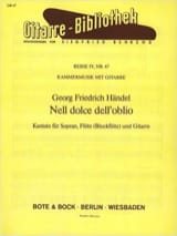 Georg-Friedrich Haendel - Nell Dolce Dell' Oblio (Version Guitare) - Partition - di-arezzo.fr