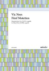 5 Motetten Vic Nees Partition Chœur - laflutedepan.com