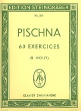 60 Exercices progressifs Johann Pischna Partition laflutedepan.com