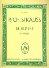 Burleske Ré Mineur. 2 Pianos Richard Strauss laflutedepan.com