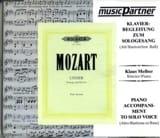 Lieder Alto-Baryton Cd MOZART Partition Mélodies - laflutedepan.com