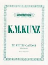 200 Petits Canons Opus 14 K.M. Kunz Partition Piano - laflutedepan.com