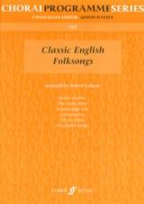 Classic English Folksongs Partition Chœur - laflutedepan.com