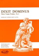 Dixit Dominus HAENDEL Partition Chœur - laflutedepan.com