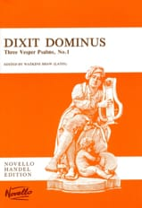Dixit Dominus Georg-Friedrich Haendel Partition laflutedepan.com