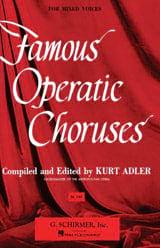 Famous Operatic Choruses Partition Chœur - laflutedepan.com