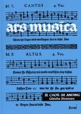 Ars Musica Volume 3 Partition Chœur - laflutedepan.com