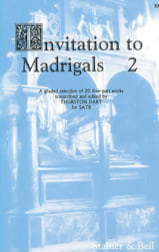 Invitation To Madrigals Volume 2 Partition Chœur - laflutedepan.com