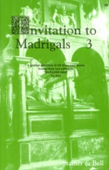 Invitation To Madrigals Volume 3 - Partition - laflutedepan.com