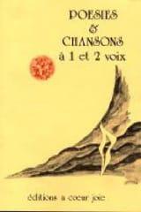 Poésies & Chansons à 1 et 2 Voix Partition Chœur - laflutedepan.com