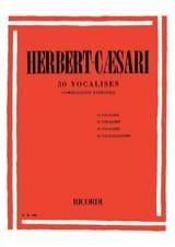 50 Vocalises Herbert-Caesari Partition Pédagogie - laflutedepan.com