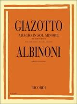 Adagio. Piano Albinoni Tomaso / Giazotto Partition laflutedepan.com